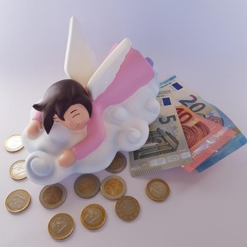 Cute ANGEL Kids money bank