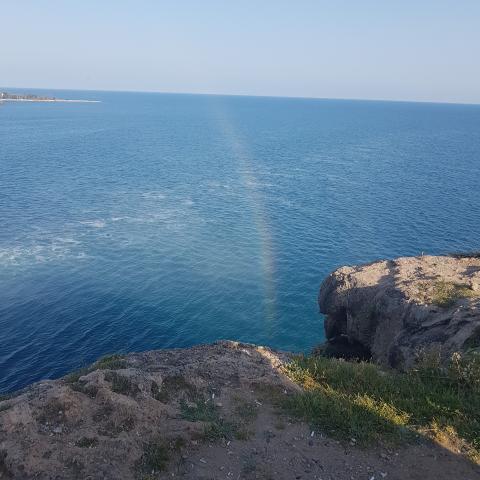 Free photo - Beautiful Rainbow above the sea