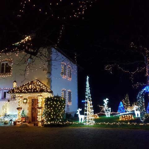 Christmas fairytale decoration in garden