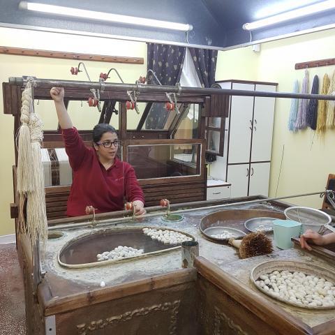 Carpet Weaving School, Cappadocia  - the silk cocoons