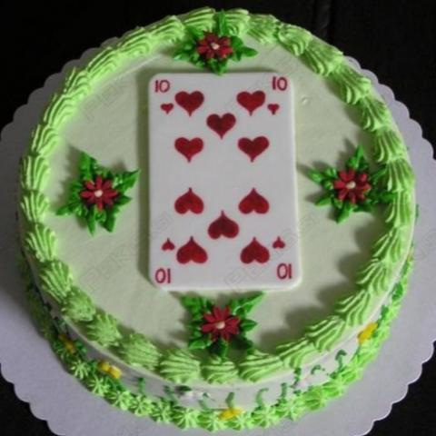 Awesome Happy Birthday Cake Playing Card Cakes Free Photos Photos777 Net Personalised Birthday Cards Veneteletsinfo