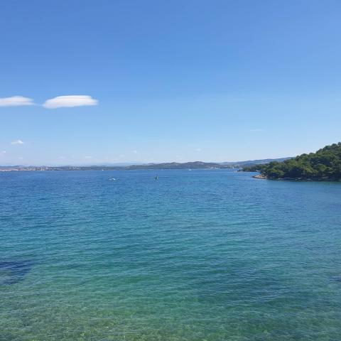 Beautiful coast and blue sea on Biograd na moru, Croatia