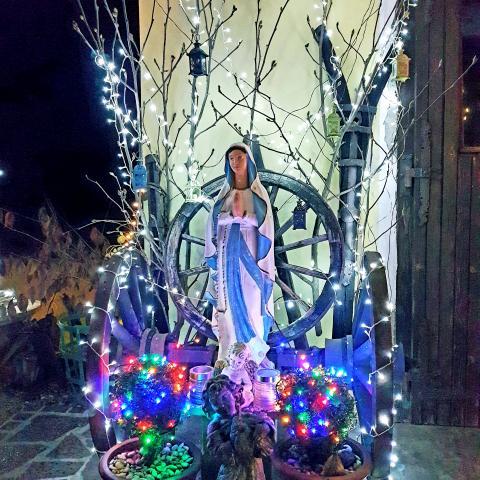 Catholic Virgin Mary decoration