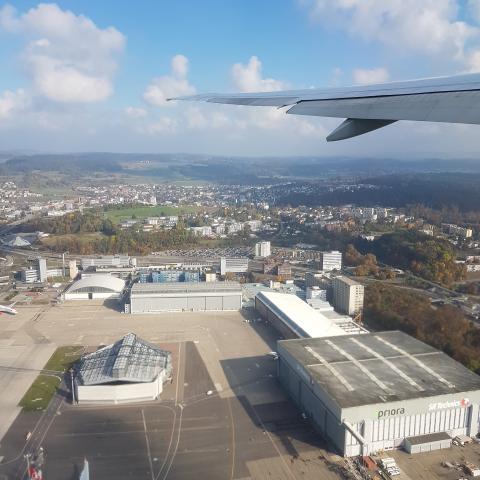 International Airport - aerial view of zurich airport