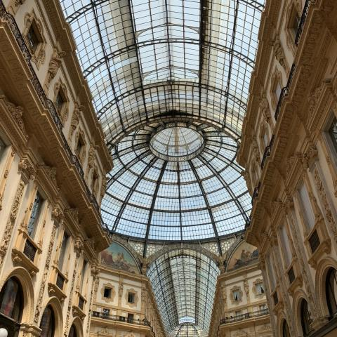 The Galleria Vittorio Emanuele II, Milan - The magnificent shopping arcade