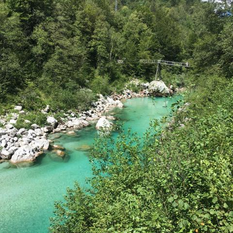 Soca is probably the most beautiful river in the world