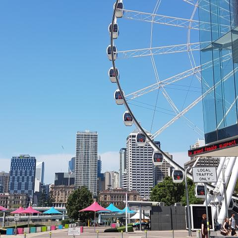 Wallpaper - The Wheel of Brisbane, unforgettable experience for young or old