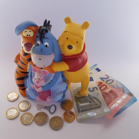 Cartoon Character Winnie the Pooh and Friends Money Bank