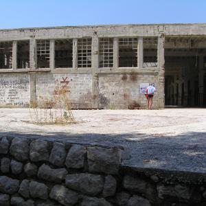 "Uninhabited island, former Yugoslav prison  ""Croatian Alcatraz"""