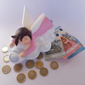 Cute ANGEL Kids money bank