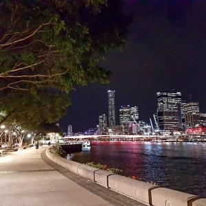 Picturesque colourful view of Brisbane at night