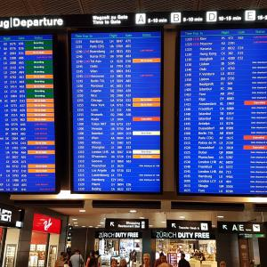 Departure board at Zurich Airport - Download Free Images