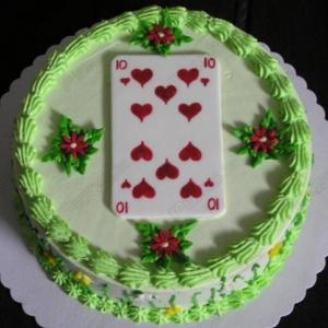 Happy Birthday Cake - playing card cakes