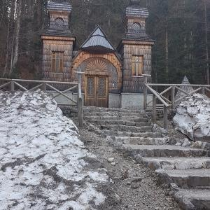 The Russian Chapel on the Vršič Pass in northwestern Slovenia