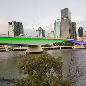 The Victoria Bridge, Brisbane, Queensland, Australia