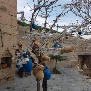 Tree Of Wishes with clay pots in Cappadocia