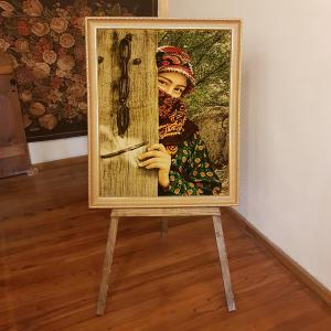 Handmade Turkish picture woven from silk