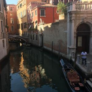Venice - Canal boats and bridges - Free photos