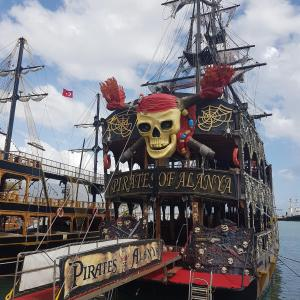 Pirate ship in port of Alanya