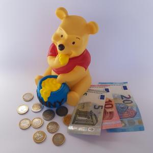 Winnie The Pooh Bear Honey Money Bank